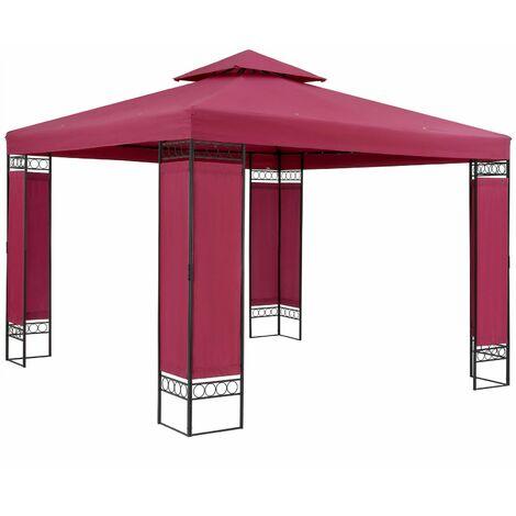 Tonnelle de jardin Lorca 3x3 m Tente de réception avec toile hydrofuge Pavillon pergola 2,60 m Mobilier extérieur Anthracite