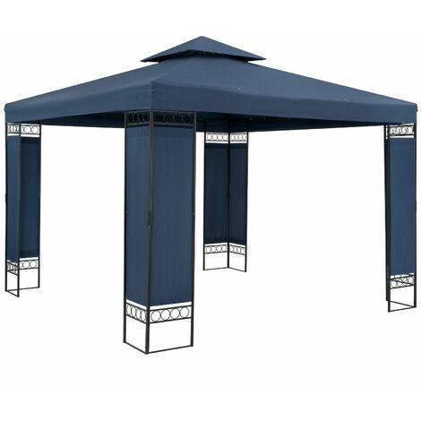 Tonnelle de jardin Lorca 3x4 m Tente de réception avec toile hydrofuge Pavillon pergola 2,60 m Mobilier extérieur Bleu