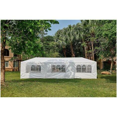 "main image of ""Tonnelle de jardin Marinea - 3 x 9 m - Blanc"""