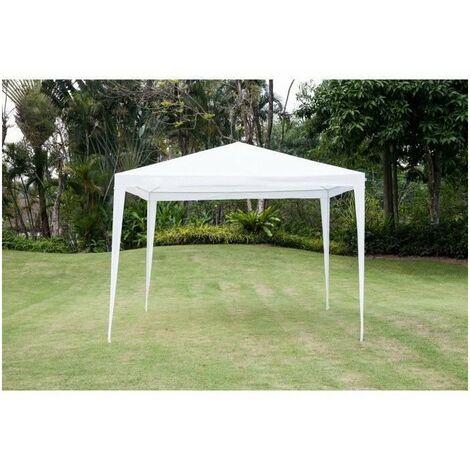Tonnelle de jardin Orta - En acier toile polyester - 3 x 3 m - Blanc