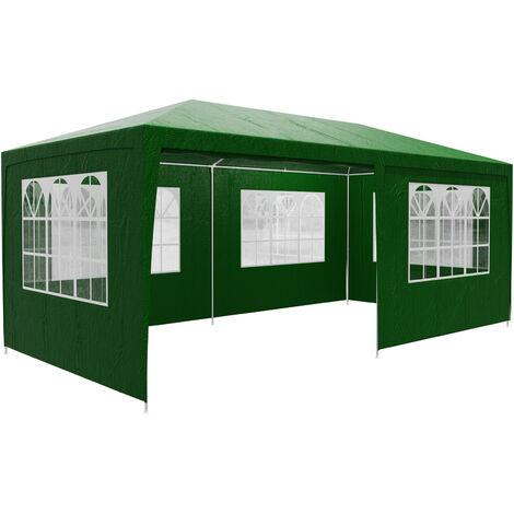 Tonnelle de jardin Rimini 3x6m avec toile hydrofuge 6 parois latérales enroulables Barnum Tente de réception fête extérieur