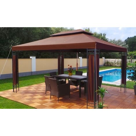Tonnelle de jardin Swing & Harmonie® 3x4 m chocolat