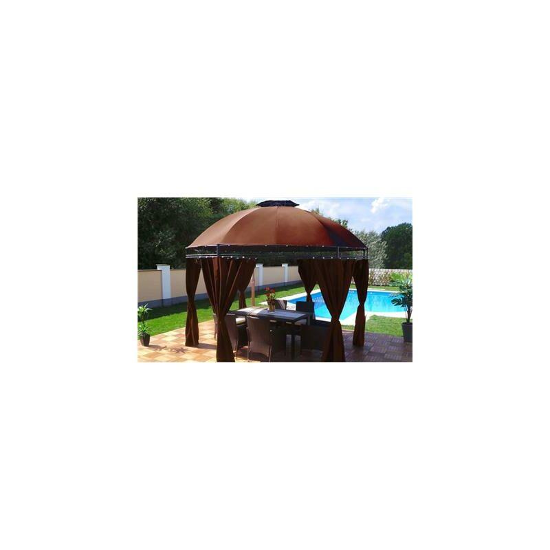 Tonnelle de jardin Swing & Harmonie® ronde chocolat -