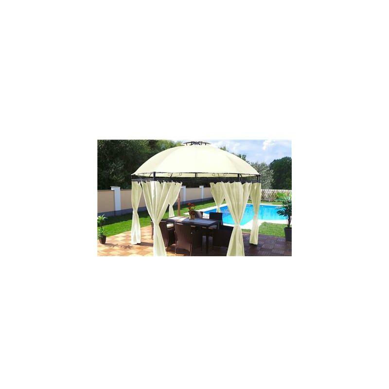 Tonnelle de jardin Swing & Harmonie® ronde écru -