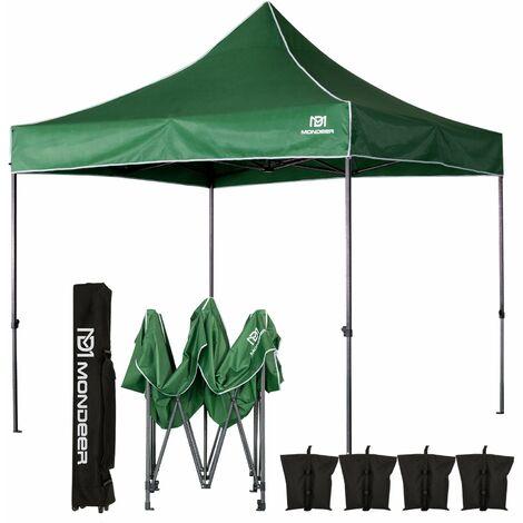 Tonnelle de Jardin Tente de Reception 3mx3m Pliante Impermeable pour Fête,Camping, Festival, Vert- Mondeer
