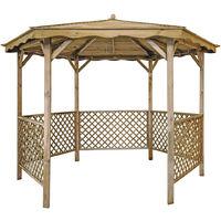 Tonnelle LORA avec toit en bois | dimaètre 345 cm