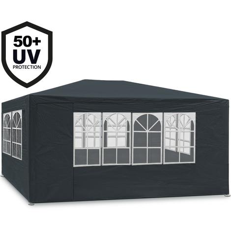 Tonnelle Maui 3x4m - Anthracite - Tente de jardin Barnum revêtement imperméable