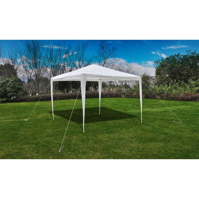 Tonnelle Pavillon de jardin blanc 3x3m