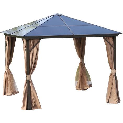 tonnelle pavillon de jardin rigide panneaux toit. Black Bedroom Furniture Sets. Home Design Ideas