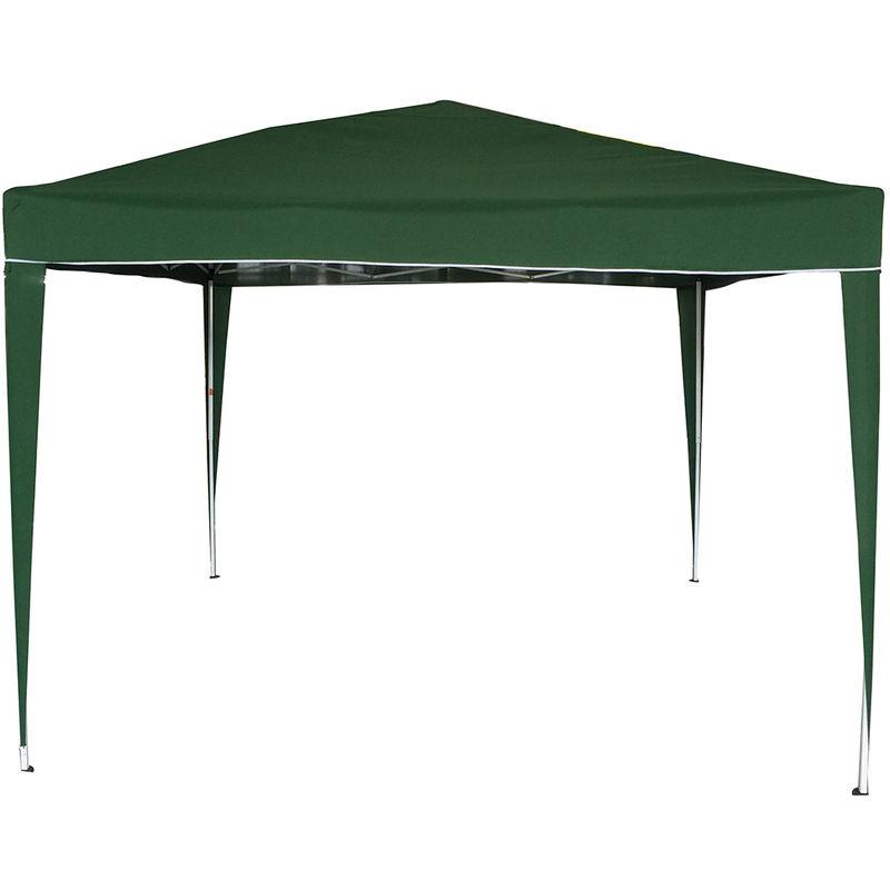 Tonnelle pliable - montage facile - pour camping/barbecue - vert - 3 x 3 m
