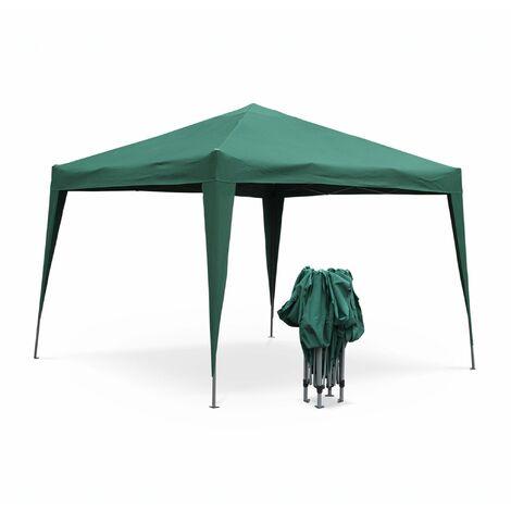 Tonnelle pliante 3 x 3 m - Tecto Vert - Tente de jardin pop up, pergola pliable, barnum, chapiteau, tente de réception