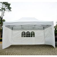 Tonnelle Tente De Reception Pliante Pavillon Chapiteau Barnum 3x45m Blanc Cotes Demontables