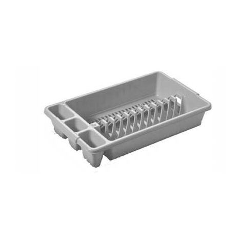 Tontarelli Dish / Plate / Cutlery Sink Drainer - Small - Platinum