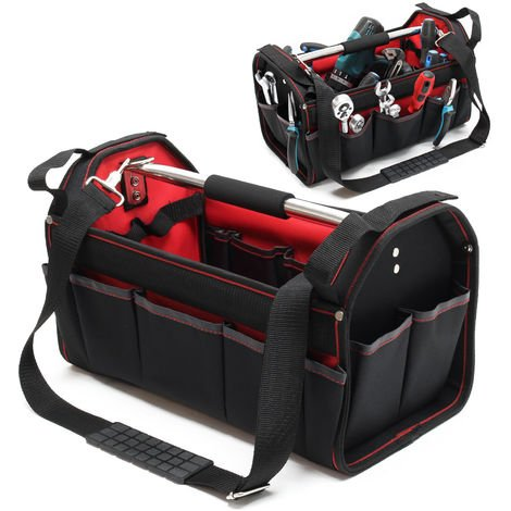 Tool bag size XL with shoulder strap and carrying handle