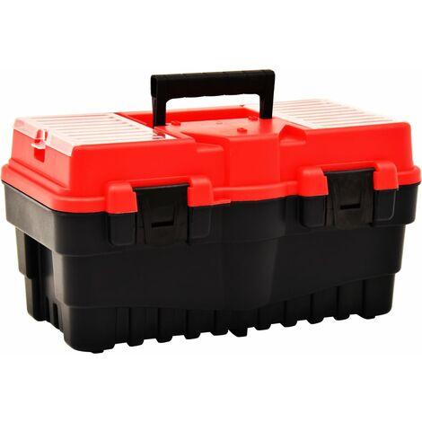 Tool Box Plastic 462x256x242 mm Red