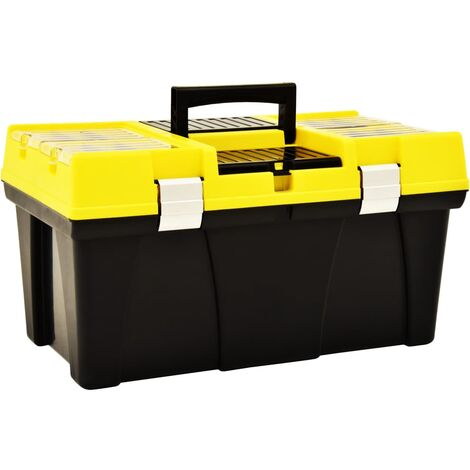 Tool Box Plastic 595x337x316 mm Yellow