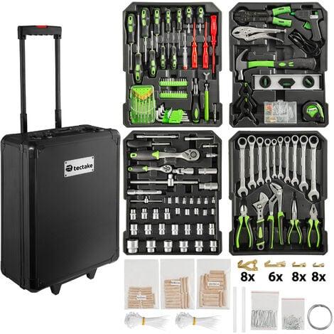 Tool box trolley 898 PCs - tool box on wheels, tool case, tool trolley - black