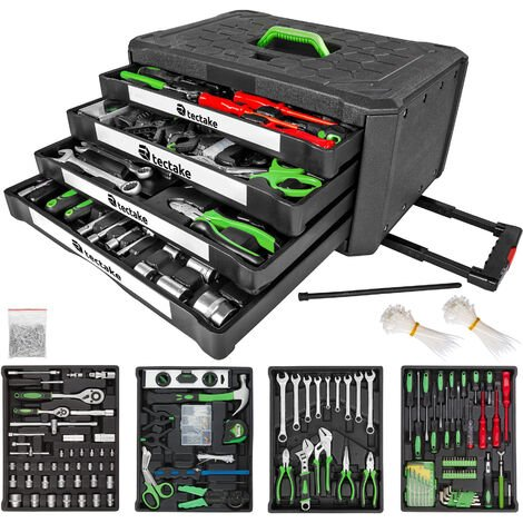 Tool box with 4 drawers 899 PCs. - tool box on wheels, tool case, tool trolley - black