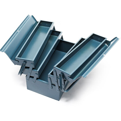 Tool Box with 5 Compartments Made of Cold Rolled Steel 420 x 200 x 200 mm