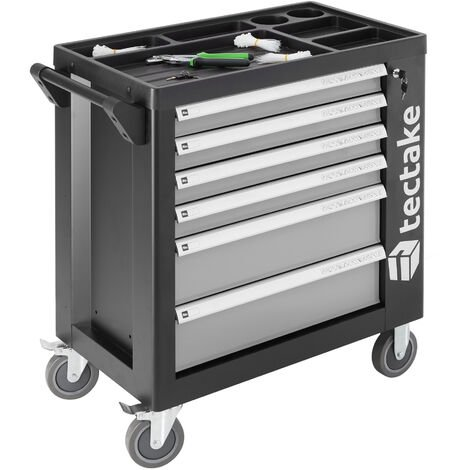 Tool box with wheels and tools 1399 PCs. - tool chest, tool cabinet, tool drawers - grey