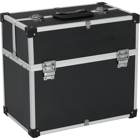 Tool Case 43.5x22.5x34 cm Black Aluminum