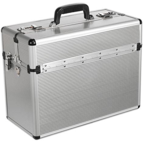 Tool Case Pilot Style Fully Polished Aluminium