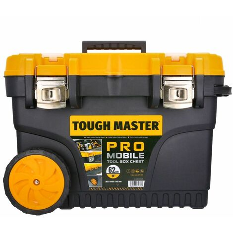 "Tool Chest/Box Tough Master Professional Mobile 24"" on Wheels With Tote Tray"