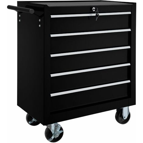 Tool chest with 5 drawers - tool box, tool box on wheels, tool cabinet