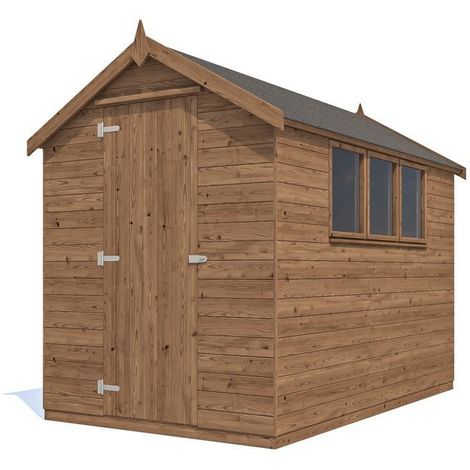 Tool Shed Finli - Pressure Treated Timber Roof Felt Heavy Duty Garden Storage Toughened Glass Window