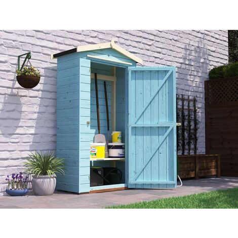 Tool Shed Talia 4x2 - Sentry Box Wooden Garden Storage Customisable Shelf Tool Rail Roof Felt