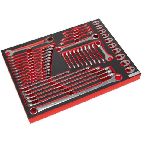 Tool Tray with Specialised Spanner Set 44pc