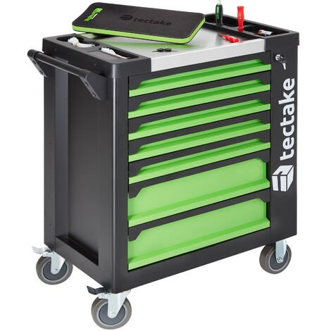 Tool Trolley with Tools 1599 PCs. - tool chest, tool cabinet, tool drawers - black - negro