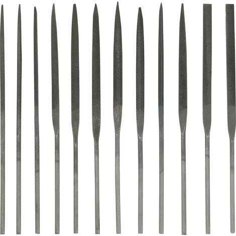 TOOLCRAFT 1553625 12 pièces Set de limes, 6 pièces Longueur de coupe 65 mm S328531