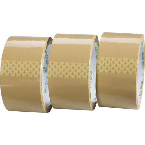 TOOLCRAFT 1564081 Ruban adhésif d'emballage marron (L x l) 50 m x 48 mm 3 pc(s) S817691