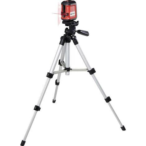 TOOLCRAFT CL8 Laser a croce incl. treppiede, autolivellante Raggio di azione (max.): 8 m