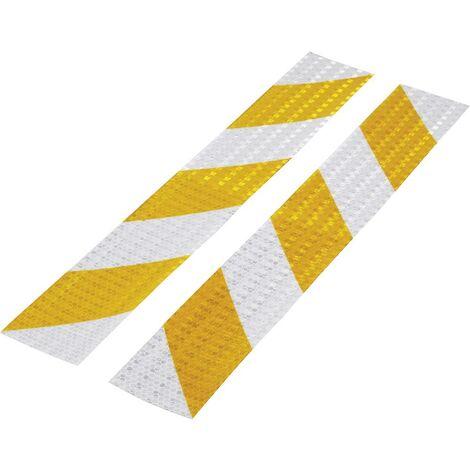 TOOLCRAFT RTS60/400-YL 1564044 Bande davertissement RTS argent, jaune (L x l) 40 cm x 60 mm 1 set