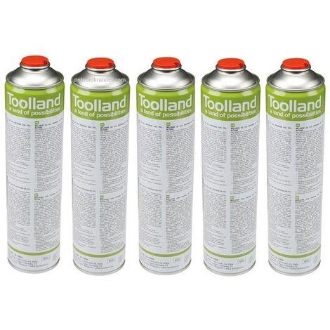 Toolland 5 x bouteilles de gaz universelles pour désherbeur à gaz