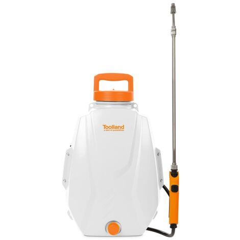 Toolland Battery-powered Backpack Pressure Sprayer 12 L - Multicolour