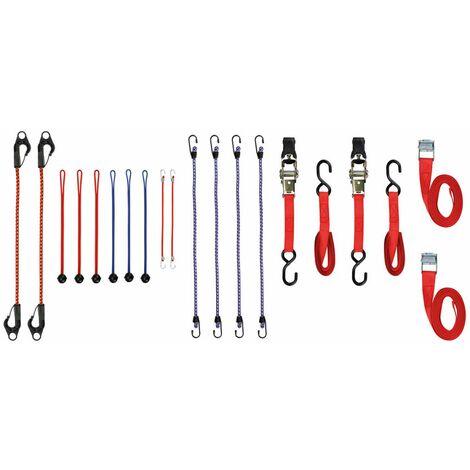 Toolland Correas de trinquete y cuerdas elásticas 20 piezas ARATS2