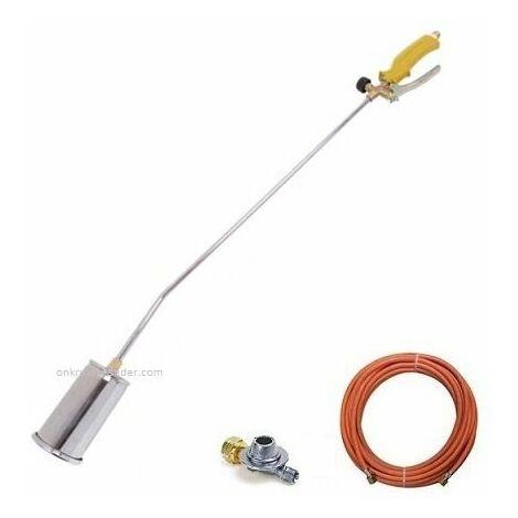 Toolland désherbeur thermique 1 brûleur + tuyau gaz 5 m + détendeur 2,5 bar