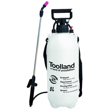 Toolland Pulverizador de presión 8 L - Multicolor