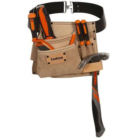 Cinturón 1 Portaherramientas Toolpack Elite Beige De Bolsa AL4R53j