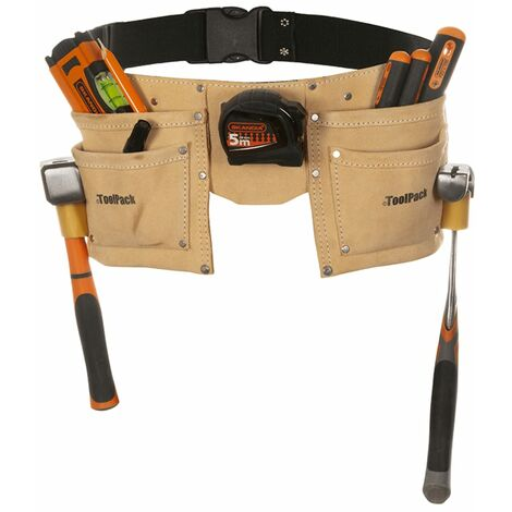 Toolpack Double-Pouch Tool Belt Leather Regular 366.008