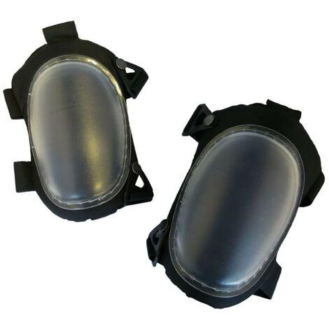 Toolpack Genouillères solides Basalt avec protecteur TPU Noir et gris