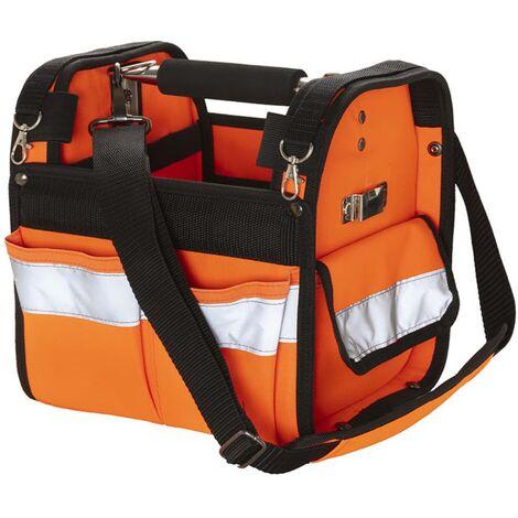 Toolpack High-visibility Tote Tool Bag Distinct Orange and Black
