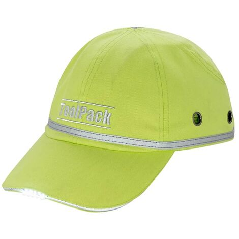 Toolpack LED Work Protective Cap Lime Green