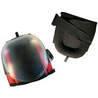 Toolpack Rodilleras de trabajo Pro Arkose con capa de PVC negro y rojo