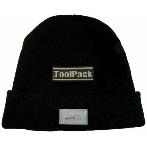Toolpack Working Hat with LED Light Black 360.125