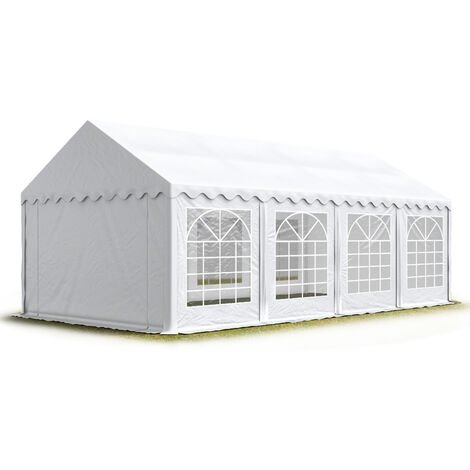TOOLPORT 5x8 m Marquee Party Tent Heavy Duty 500g/m² PVC Waterproof Tarpaulin All Year Use Wedding Event white