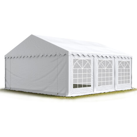TOOLPORT 6x6 m Marquee Party Tent Heavy Duty 500g/m² PVC Waterproof Tarpaulin All Year Use Wedding Event white